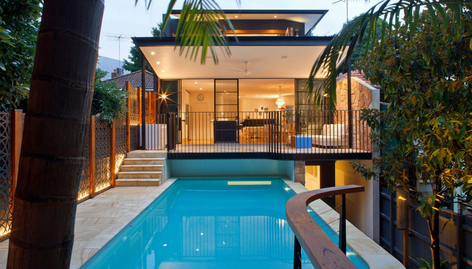 "alt=""SMARTHOMEWORKS - smarthome home automation Sydney - House Back yard view"""