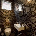 "alt=""SMARTHOMEWORKS - smarthome home automation Sydney - dark themed bathroom"""