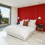 "alt=""SMARTHOMEWORKS - smarthome home automation Sydney - red and white themed bedroom"""