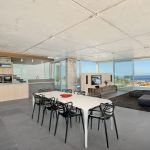 """alt=""""SMARTHOMEWORKS - smarthome home automation Sydney - dining area overlooking the beach"""""""